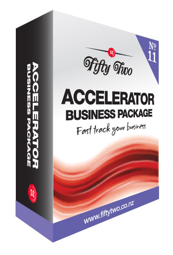 Accelerator logo and website package
