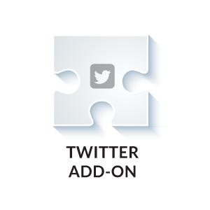 twitter social media add on
